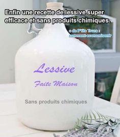 Cela fait plus d'un an que j'utilise cette recette de lessive maison. Et je peux vous dire qu'elle marche super bien :-) Évidemment, elle ne contient aucun produit chimique douteux. Mais en plus, elle est super rapide à fabriquer ! Découvrez l'astuce ici : http://www.comment-economiser.fr/recette-lessive-super-efficace-et-sans-produits-chimiques.html?utm_content=buffer83ea7&utm_medium=social&utm_source=pinterest.com&utm_campaign=buffer