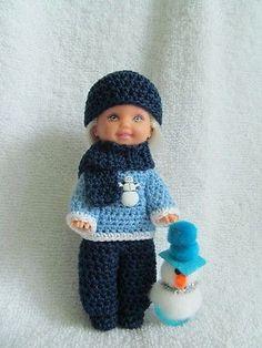"Crochet Set for 4 1 2"" Kelly Tommy Doll   eBay"