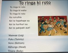 Maori version of the Hokey Pokey song