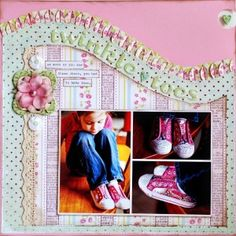 Cute Twinkle Toes Girl's Page...love the ruffled swirled edge! by cassandra