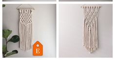 I just re-listed a Macrame Wall Hanging Kit, which now has 4 patterns to choose from. ➰➰➰