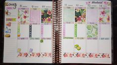 Plan With Me - Erin Condren Life Planner Week 32 ♡ Timelapse