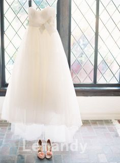 dream formal strapless sweetheart empire waist princess tulle wedding dress. $235.00, via Etsy.