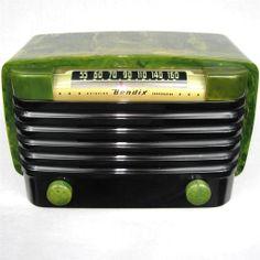 Fantastic Bendix 526C Catalin Bakelite Tube Radio Green & Black picclick.com
