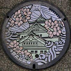 Японский дизайн канализационных люков - Дизайн