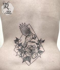 Mirja Fenris Tattoo #bird #geometric #floral