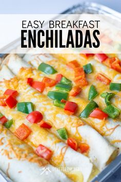 Christmas brunch for your overnight guests will be easier with these festive make ahead breakfast enchiladas ready to go in the freezer. Dinner Party Recipes, Brunch Recipes, Breakfast Recipes, Brunch Ideas, Breakfast Ideas, Christmas Party Food, Christmas Brunch, Christmas Ideas, Easy Kid Friendly Dinners