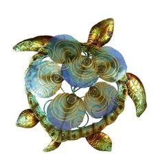 what are capiz shells?   Metal Wall Art :: Fish, Beach & Ocean :: 3D Turtle Capiz Disc Shell ...