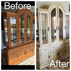 Before And After Americana Decor Primitive Chalk Paint