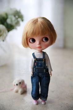 Yuan je Blythe nastaví HatScarfT-shirt OverallsShoes