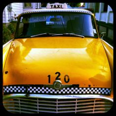 Vintage Taxi edited by Diptic, photo app, and photographed with #Instagram.