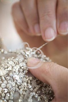 Ralph & Busson dress embellished with Swarovski crystals.