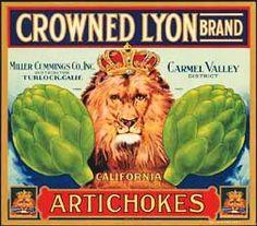 Crowned Lyon Artichokes. #crateart