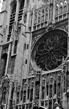 I like how they used Gothic ornamentation on a window.