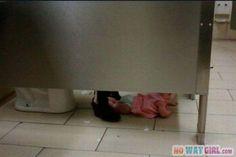 Parenting Fail: Not On The Bathroom Floor! - NoWayGirl