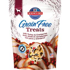My gluten intolerant dog has done amazingly well on the entire line of grain free food and treats from Science Diet!  A delicious, natural grain-free treat with turkey & cranberries  for your dog. Made in USA.