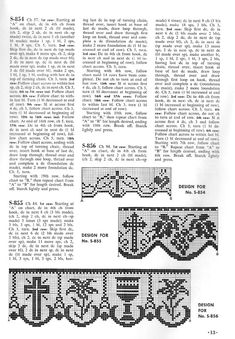 Christian Symbols in Filet Crochet – free patterns – Grandmother's Pattern Book