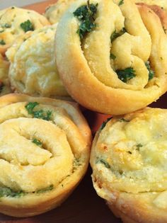 Garlic butter biscuit cupcakes; try with crescent roll dough instead.
