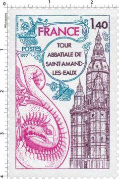 Timbre : 1977 TOUR ABBATIALE DE SAINT-AMAND-LES-EAUX | WikiTimbres