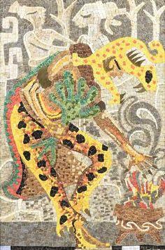 Mosaic Art, Mosaic Glass, Jaguar, Brass Plaques, Mexican Designs, Mexican Jewelry, Grisaille, México City, Mexican Art