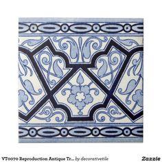 VT0070 Reproduction Antique Transferware Tile