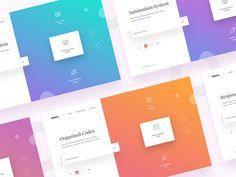 Captico - Gradients gradients icons landing page minimal mockup presentation sliders split design ui webdesign website