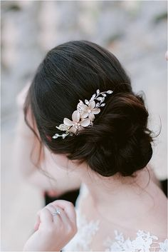 Annie Salmon Wedding Hairstyle | Image by Matthieu Bodon