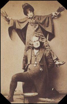 "Jessie Bond as Mad Margaret and Rutland Barrington as Sir Despard (Act Two) in the original 1887 production of ""Ruddigore"" at the Savoy Theater."