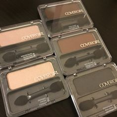 BUNDLE ME!!  5 shades of Covergirl Eye Enhancers Covergirl eye enhancers:  5 different shades  #440 shimmering onyx, #670 bedazzled biscotti, #710 champagne, #730 Swiss chocolate, #740 brown smolder Covergirl Makeup Eyeshadow