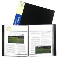 C-Line 12-sheet Protector Bound Presentation Book