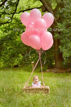 "first birthday ""hot air balloon"" replica - tiffany gist photography"