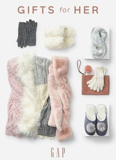 Your presence is the best present — but cozy accessories are a close second. A few go-tos for your gift list: —Crazy-Cozy Scarves —Toasty Slippers —The Pom-Pom Clutch Shop now.