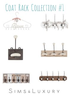 Coat Rack Collection #1 - Sims4Luxury