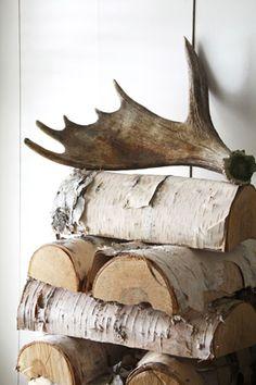 winter wedding - brides of adelaide magazine - firewood decor