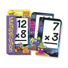 Low Vision Multiplication Flash Cards- Spanish - Educational - MaxiAids
