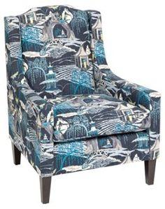 Peyton Toile Cotton Chair, Indigo - Kim Salmela