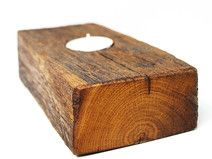 Very rustic candle holder