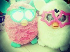 #White #Furby #Furby2  #Glasses #Funky  #Hasbro #TOMY #Fluffy