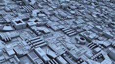 3D model conversion of the Star Wars Death Star's surface greebles. The original model was created by 3D artist Wayne Jones - Jedilaw and its available at Scifi3D dot com.