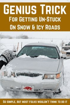 Quick Survival Hack For Getting Un-Stuck On Icy Roads https://knowledgeweighsnothing.com/quick-survival-hack-for-getting-un-stuck-on-icy-roads/