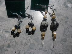 Set Of Two Stone Earrings by dreamwvr81 on Etsy, $10.00