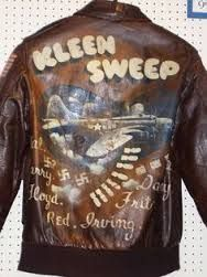 original WWII bomber jacket art
