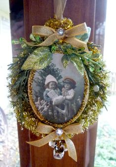 Old Fashioned Christmas Golden Tinsel by CloudNineAdornments