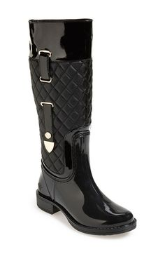 Posh Wellies 'Quizz' Quilted Tall Rain Boot (Women) available at #Nordstrom....I want these.