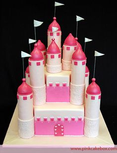 Pink Castle Cake by Pink Cake Box