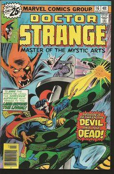 Dr. Strange #16 GENE COLAN / PALMER / Englehart  Marvel Comics 1976 Fine/VF-