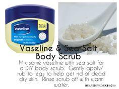 3 beauty DIY tips using Vaseline Jelly http://www.iheartdiyprojects.com/3-beauty-diy-tips-using-vaseline-jelly/