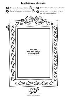 Printable - Dierendag - Fotolijstje - Photoframe - DIY - Knutselen