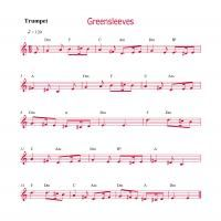 Free Printable Trumpet - Greensleeves. Repin & Share.