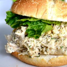 Slow Cooker Chicken Caesar Sandwiches Chicken Caesar Sandwich Recipe For Healthy Heart When you ill, you must go doctor…Pharmaceutical industry uses for sale their medicine Chicken Caesar Sandwich, Chicken Ceasar Salad, Salad Sandwich, Shredded Chicken Sandwiches, Croissant Sandwich, Think Food, I Love Food, Slow Cooker Recipes, Cooking Recipes